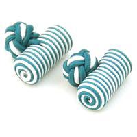 Spinki do mankietów elastyczne zielone i białe