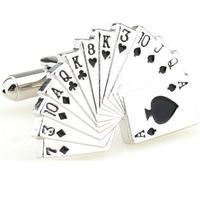 Spinki do mankietów - paravan karty