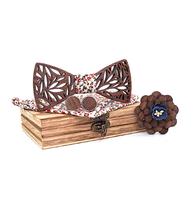 Drewniane spinki do mankietów z motylem Rožanice