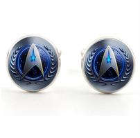 Spinki do mankietów Star Trek blue