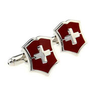 Spinki do mankietów Szwajcarski emblem