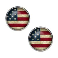 Spinki do mankietów w kolorze amerykańskich flag