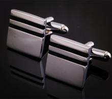 Spinki do mankietów kwadratowych z dwoma paskami