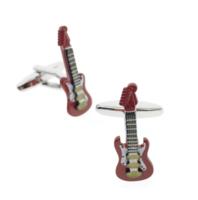 Spinki do mankietów gitara elektryczna czerwona