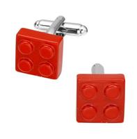 Spinki do mankietów czerwone Lego