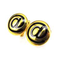Spinki do mankietów w kolorze złotym