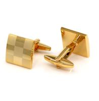 Spinki do mankietów złota szachownica