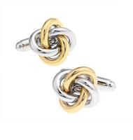 Spinki do mankietów węzełki złote i srebrne