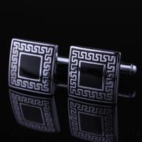 Spinki do mankietów - starożytne symbole - kwadrat