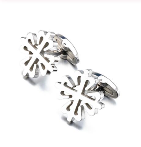 Spinki do mankietów srebrne śnieżynka - 1