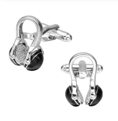 Spinki do mankietów czarne słuchawki