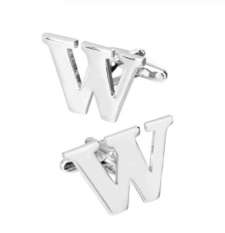 Spinki do mankietów litera W - 1