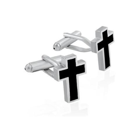 Spinki do mankietów krzyż - 1