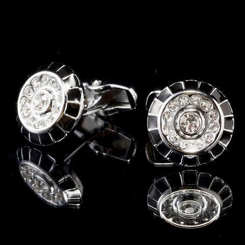 Spinki do mankietów ozdobiona pierścień - 1