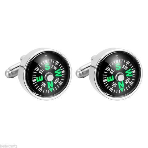 Spinki do mankietów kompas - 1