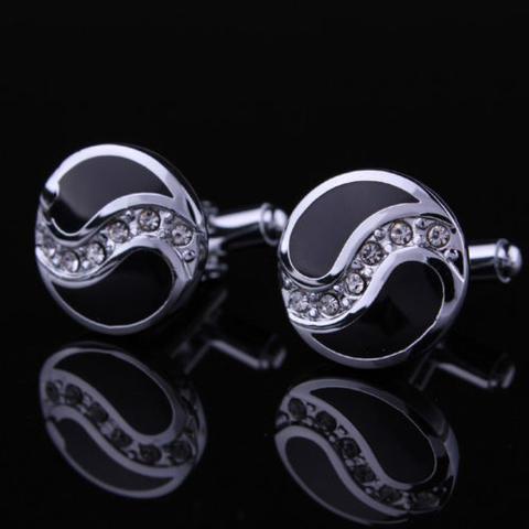 Spinki do mankietów pierścionek z cyrkoniami