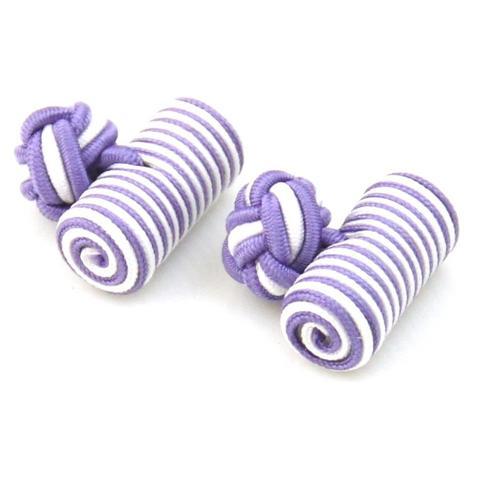 Spinki do mankietów elastyczne fioletowy i biały