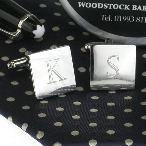 Spinki do mankietów dla grawerowanie liter