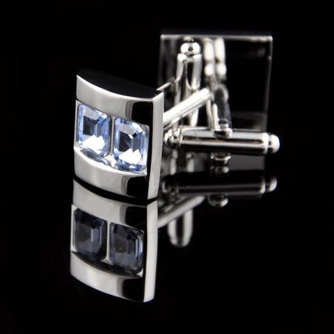 Spinki do mankietów crystal rodzaj szafir
