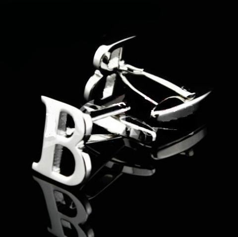 Spinki do mankietów litera B