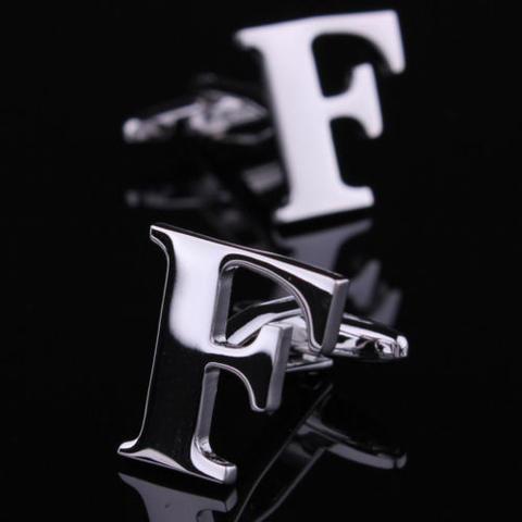 Spinki do mankietów litera F