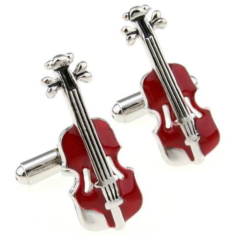 Spinki do mankietów skrzypce