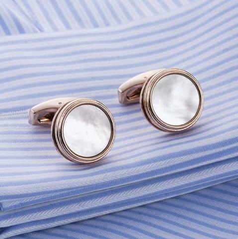 Spinki do mankietów z naturalnej perły - 1