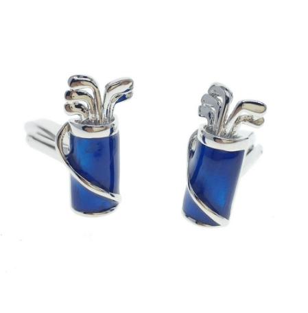 Spinki do mankietów torby golfowej w kolorze niebieskim