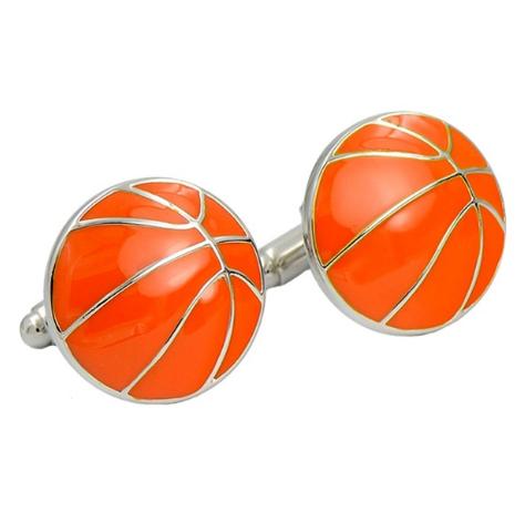 Spinki do mankietów Piłka do koszykówki