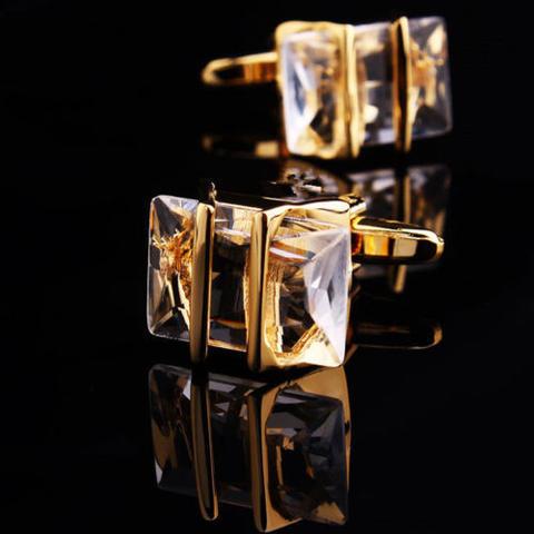 Spinki do mankietów Gemstone gold - 1