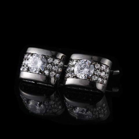 Luksusowa cyrkonia w kolorze czarnym