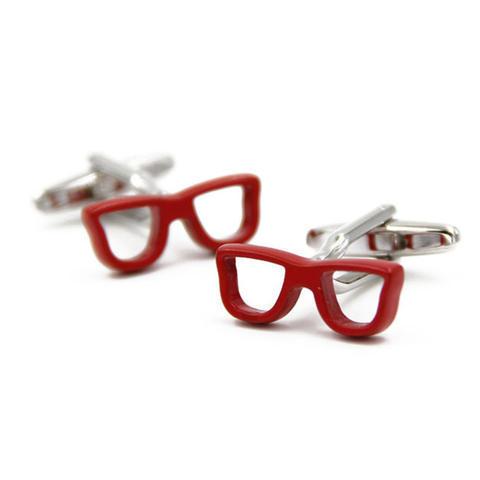 Spinki czerwone okulary - 1