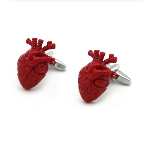 Spinki do mankietów dla kardiologów