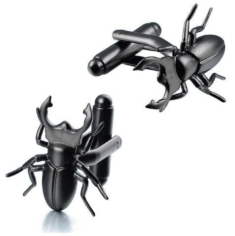 Cuckoo's Spinki do mankietów Beetle, Lucanus cervus, entomolog