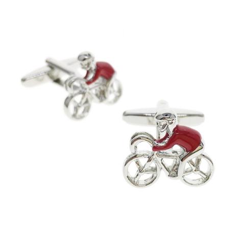 Spinki do mankietów Red Cyclist - 1