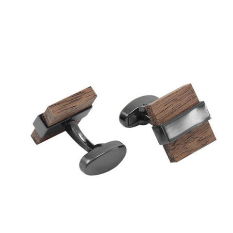 Spinki kwadratowy drewna - 1