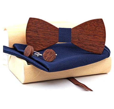 Drewniane spinki do mankietów z Butterfly Dažbog
