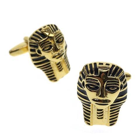 Spinki do mankietów maska egipska