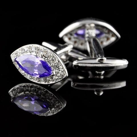 Spinki do mankietów duży kryształ