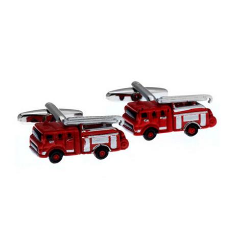 Spinki do mankietów czerwona ciężarówka
