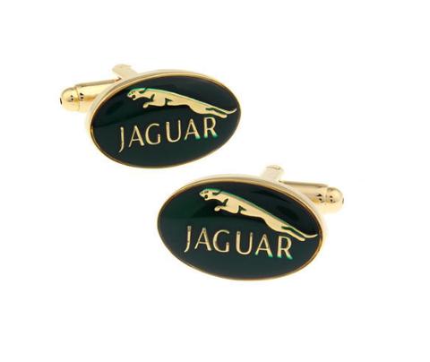 Spinki do mankietów Jaguar gold - 1