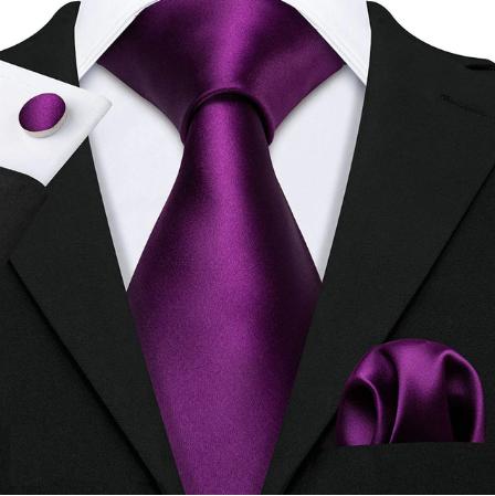 Spinki do mankietów i krawat fialová Aiglé