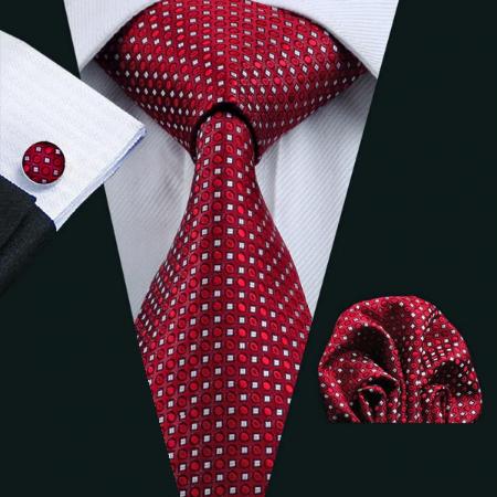 Spinki do mankietów i krawat Adrasteia