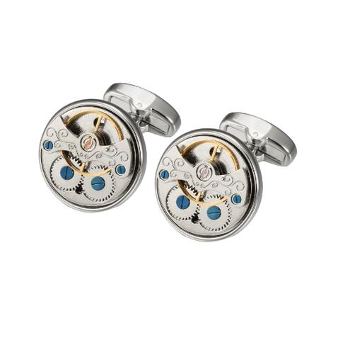 1292/5000 Spinki do mankietów w zegarku z wzorem