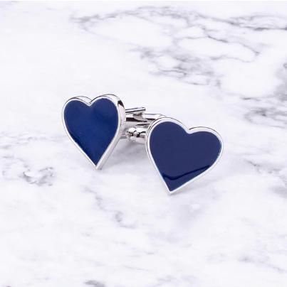 Spinki do mankietów  Niebieskie serce