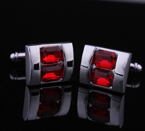 Spinki do mankietów crystal - rodzaj rubin