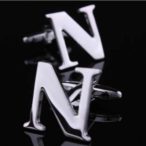 Spinki do mankietów litera N