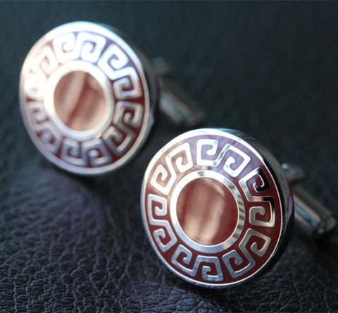Spinki do mankietów symbole greckie - 1