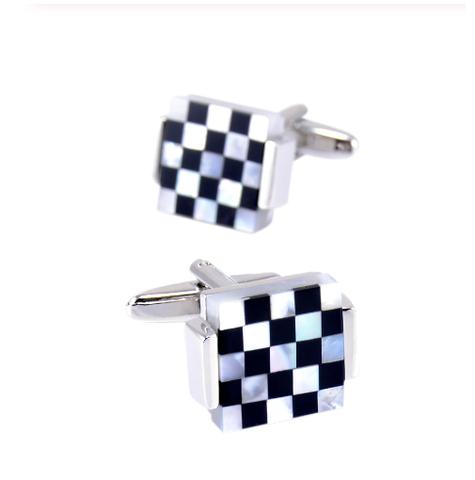 Spinki do mankietów perłowa mozaika - 1