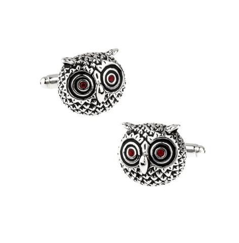 Spinki do mankietów Round Owl